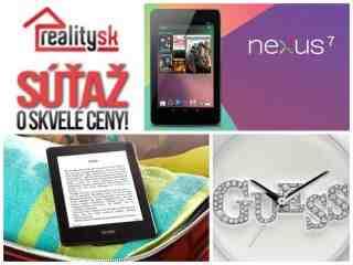 Súťaž s Reality.sk o tablet, Kindle a dámske hodinky