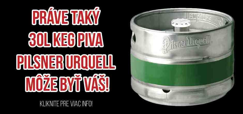 Súťažte o 30l keg piva Pilsner Urquellle!