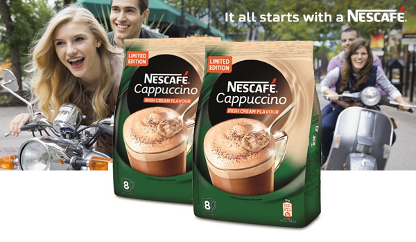 Vyhrajte a ochutnajte NESCAFÉ Cappuccino Irish cream