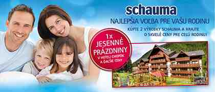 Kúpte si 2 výrobky Schauma a hrajte o skvelé ceny pre celú rodinku