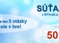 Súťaž s MYmuži.sk o 50€ na nákup