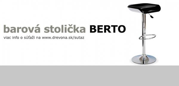 Vyhrajte v súťaži barovú stoličku BERTO