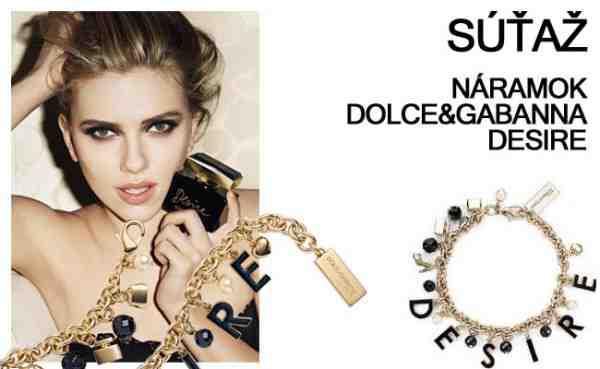 Súťaž o krásny náramok značky D&G