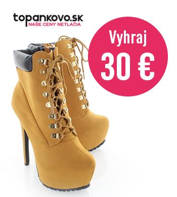 Vyhraj 30€ poukážku od topankovo.sk
