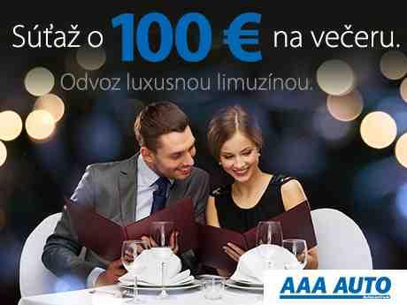 Vyhraj večeru pre dvoch až za 100 €!