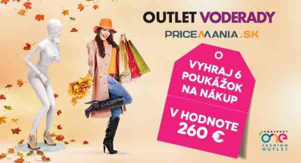 Vyhrajte nákupy v One Fashion Outlet Voderady!