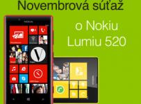 Novembrová súťaž o Nokiu Lumiu 520!