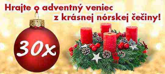 Súťaž o 30 adventných vencov z nórskej čečiny