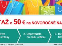 Súťaž o 50 € na novoročné nákupy