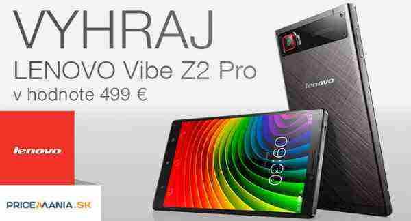 Súťažte o nový smartfón Lenovo Vibe Z2 Pro