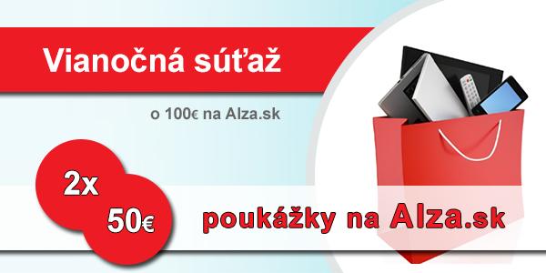 Vianočná súťaž o 2x50€ do Alza.sk