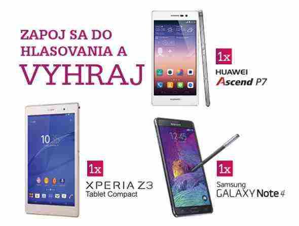 Vyhrajte Sony Xperia Z3 Tablet Compact, Huawei Ascend P7 alebo Samsung GALAXY Note 4!