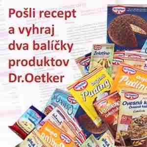 Pošli recept a vyhraj produkty Dr.Oetker