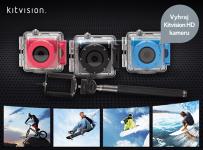 Súťažíme o akčnú Full HD kameru Kitvision