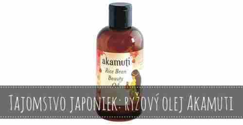 Súťaž o japonský ryžový olej značky Akamuti