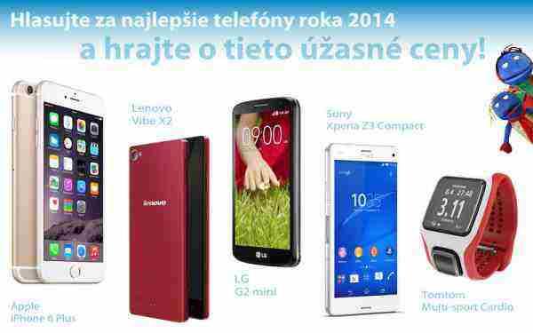 Hlasujte v ankete Mobil roka 2014 a vyhrajte hodnotné ceny
