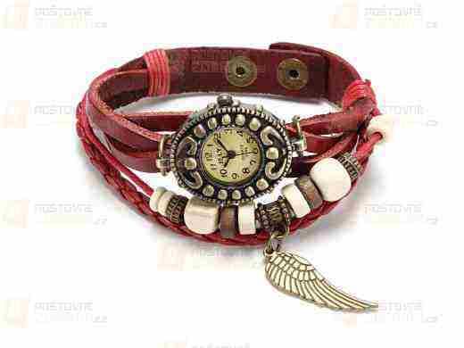 Súťaž o Vintage retro hodinky - koženkový remienok