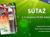 Súťaž o 1x Guaranu 50-tbl. balenie