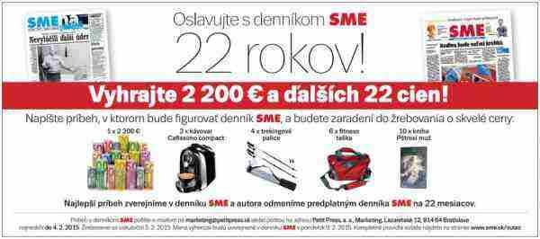 Vyhrajte 2200€ a ďalších 22 cien!