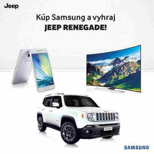 Kupuj výrobky Samsung a vyhraj JEEP Renegade!