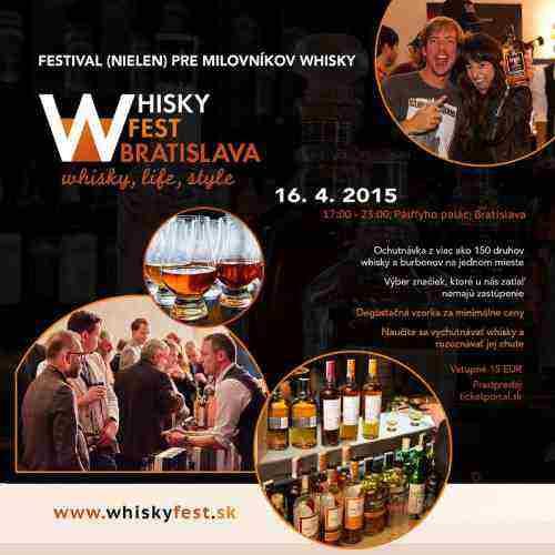 Súťažíme o 2 vstupenky na WHISKY FEST Bratislava