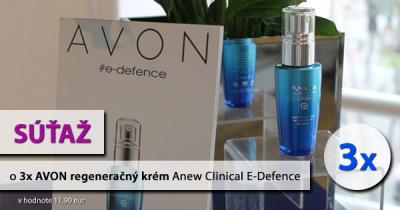Súťaž o 3x AVON regeneračný krém Anew Clinical E-Defence
