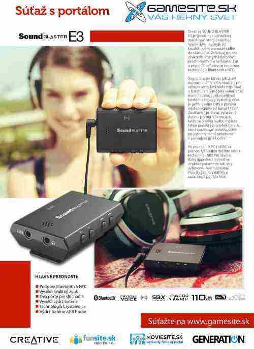 Súťaž o Creative Sound Blaster E3