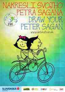 Výtvarnú súťaž s témou Peťo Sagan detskými očami alebo Bicykel a ja