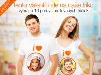 Vyhrajte 10 párov zamilovaných tričiek