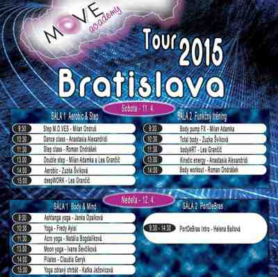 Súťaž o 5 jednodňových lístkov na Move Academy Tour Bratislava