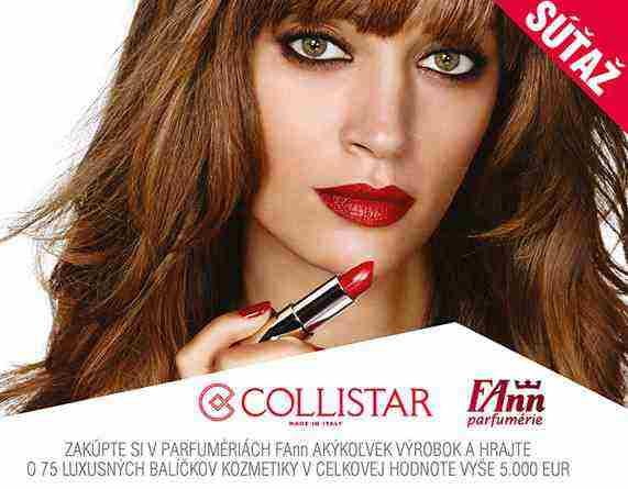 Súťaž o 75 luxusných balíčkov kozmetiky Collistar