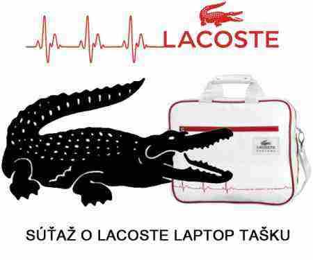 Súťaž o laptop tašku značky Lacoste!