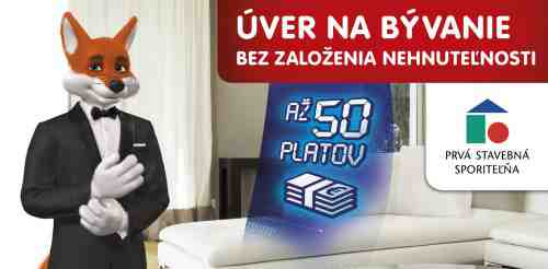 Vyhraj 300 € na Sporenie Lišiak