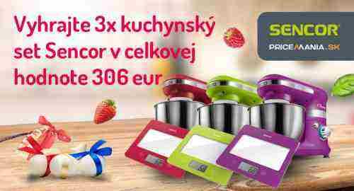 Vyhrajte farebný kuchynský set SENCOR
