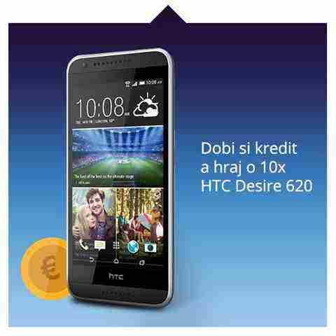 Hrajte o 10x HTC Desire 620 a dvojnásobok kreditu