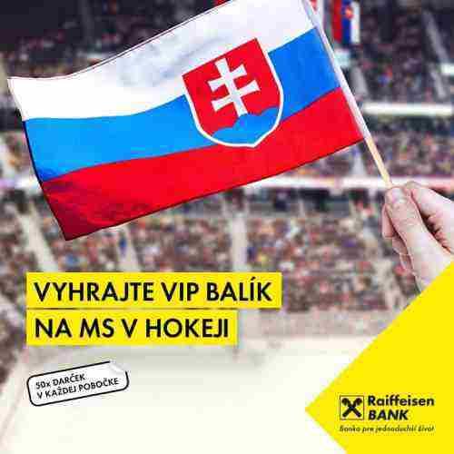 Hrajte o 3x VIP balík pre 2 osoby na MS v hokeji v Česku