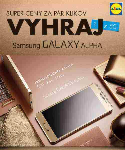 Hrajte o jeden z 50 telefónov Samsung Galaxy Alpha!