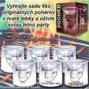 Vyhrajte sadu 6ks originálnych pohárov v tvare lebky