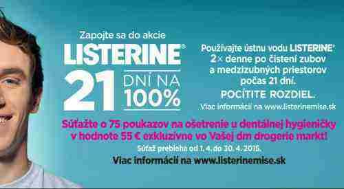 Zapojte sa do akcie LISTERINE® 21 dní na 100 %
