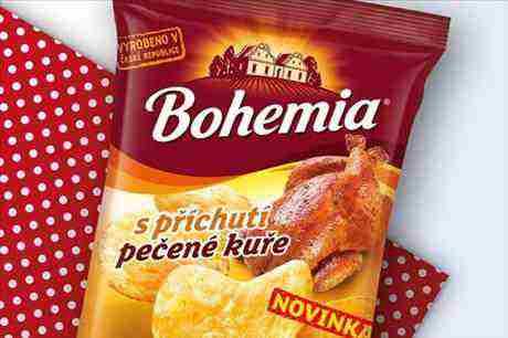 Bohemia Chips s příchutí pečené kuře