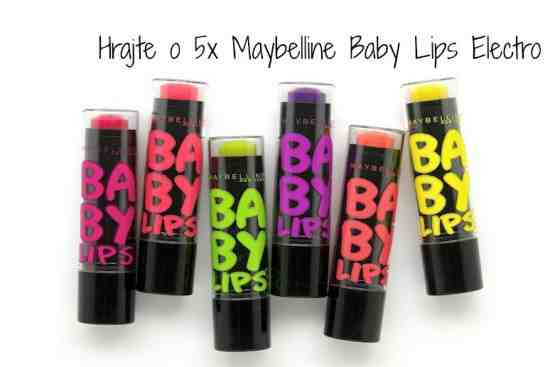 Hrajte o 5x Maybelline Baby Lips Goes Electric
