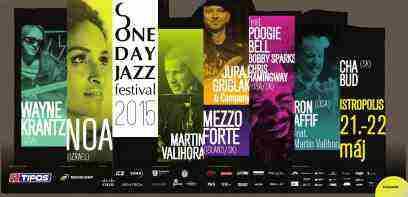 One Day Jazz Fest 2015 Súťaž o 2 lístky na jednotlivé dni festivalu