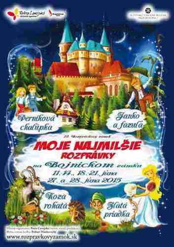 SÚŤAŽTE o vstupenky na Moje najmilšie rozprávky na Bojnickom zámku