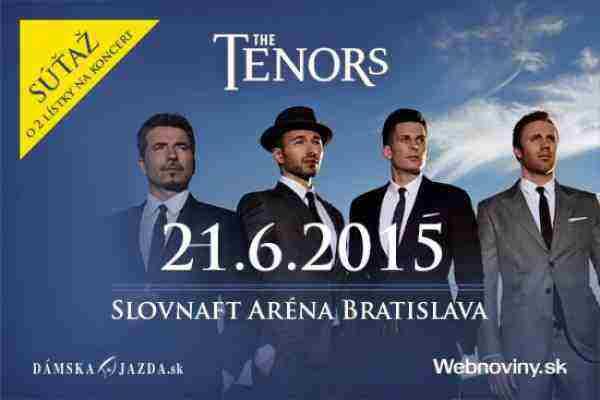 Súťaž o lístky na koncert THE TENORS