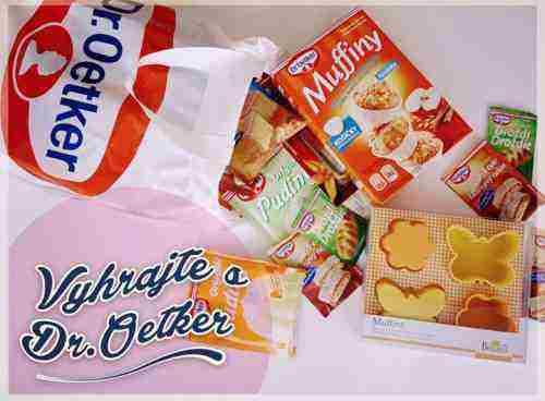 Vyhrajte formu na muffiny a balík produktov Dr.Oetker