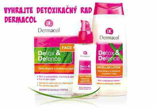 Vyhrajte o 3 balíčky kozmetiky Dermacol Detox & Defence