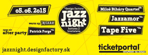 design factory Jazz Night 2015 - Súťaž o 3×2 vstupenky!