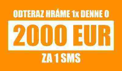 Odteraz hráme 1x denne o 2000 EUR!