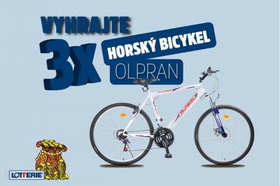 Súťaž o 3 horské bicykle značky Olpran!