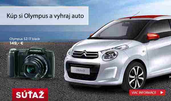 Kúpte si fotoaparát Olympus a zapojte sa do súťaže o Citroën C1